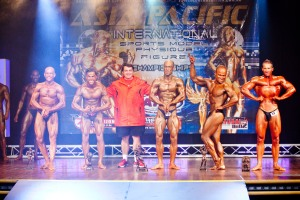 At the Asia Pacific Natural Bodybuilding Championships. Placing: 2nd Photo: Top 5 - middle weight.