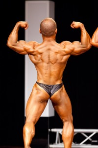 back double biceps In the thick of competition. Placing: 2nd Asia-Pacific Championships.