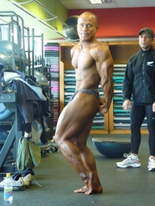 Side triceps pose. Contest: Australian Natural Bodybuilding Titles. Placing: 2nd.