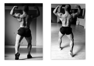 Back double biceps