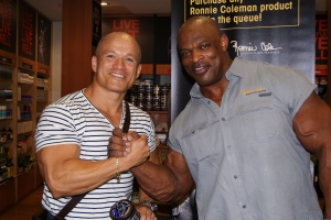 "With 8 x Mr Olympia - ""The King"", Ronnie Coleman. Now, this man built and carried on his frame an unbelievable amount of muscle - 300lbs worth of it!"