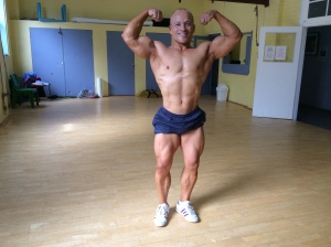 Front Double Biceps - a few days ago.
