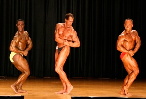 World Natural Bodybuilding Championships. Side Chest pose. Placing: 4th.