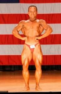 2007 World Natural Bodybuilding Championships staged in NY, USA. Represented: Australia. Placing: 4th. Judged criteria heavy on balance and symmetry.
