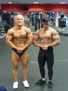 With my friend and coach at that time - 2 x World Number 1 (natural bodybuilder).