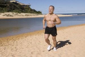 A light jog on a local beach ....