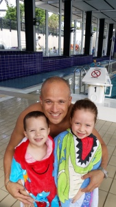 At the pool with my munchkins - Zachary and Olivia. Learning the basics of swimming with me. Your children are the most important investments you will ever make in your life (for those with kids). Become aware of their strengths-their way.
