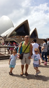 Day out with my children at the Opera House.