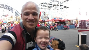 """A day out with Zachary at Luna Park, Sydney - """"Daddy-son"""" time. What a day it was for both of us! Quantity leads to quality when it comes to any relationship."""