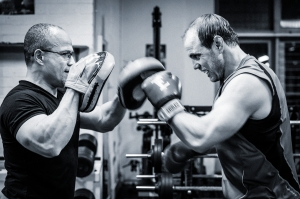Complementing Phil's weight-training session with a bit of light boxing in his body re-engineering program. Student achieving success in one of my programs: Retired former Australian Wallaby & Waratah Captain. Champion Results from a Champion Attitude with a Champion Program.