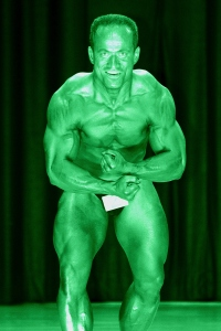 "The ""Most Muscular"" (HULK) pose in the sport of Body-building. Roaarrr!!!"