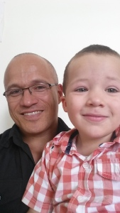 My son and I. One of my responsibilities as a man and dad is to make my son aware that being vulnerable is ok. vv
