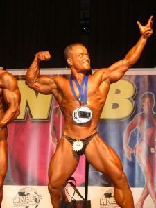 Winning the NSW titles - one of my the 3 times I won it. My signature winning pose at that time.
