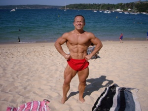 A semi-posing shot. Enjoying the sun and day out on my favourite beach here in Sydney , Australia.