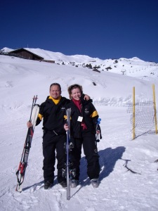 A lovely time out on the ski slopes.